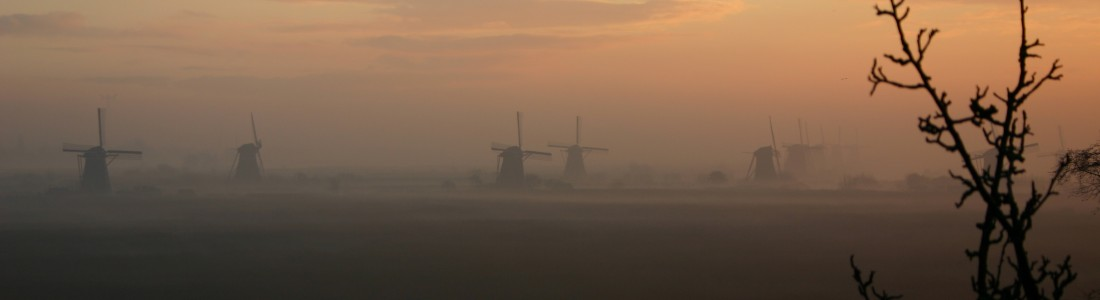 Windmill at a misty morning |  |