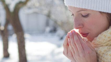 winterhanden en wintertenen