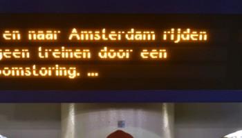Geen treinen van en naar Amsterdam CS