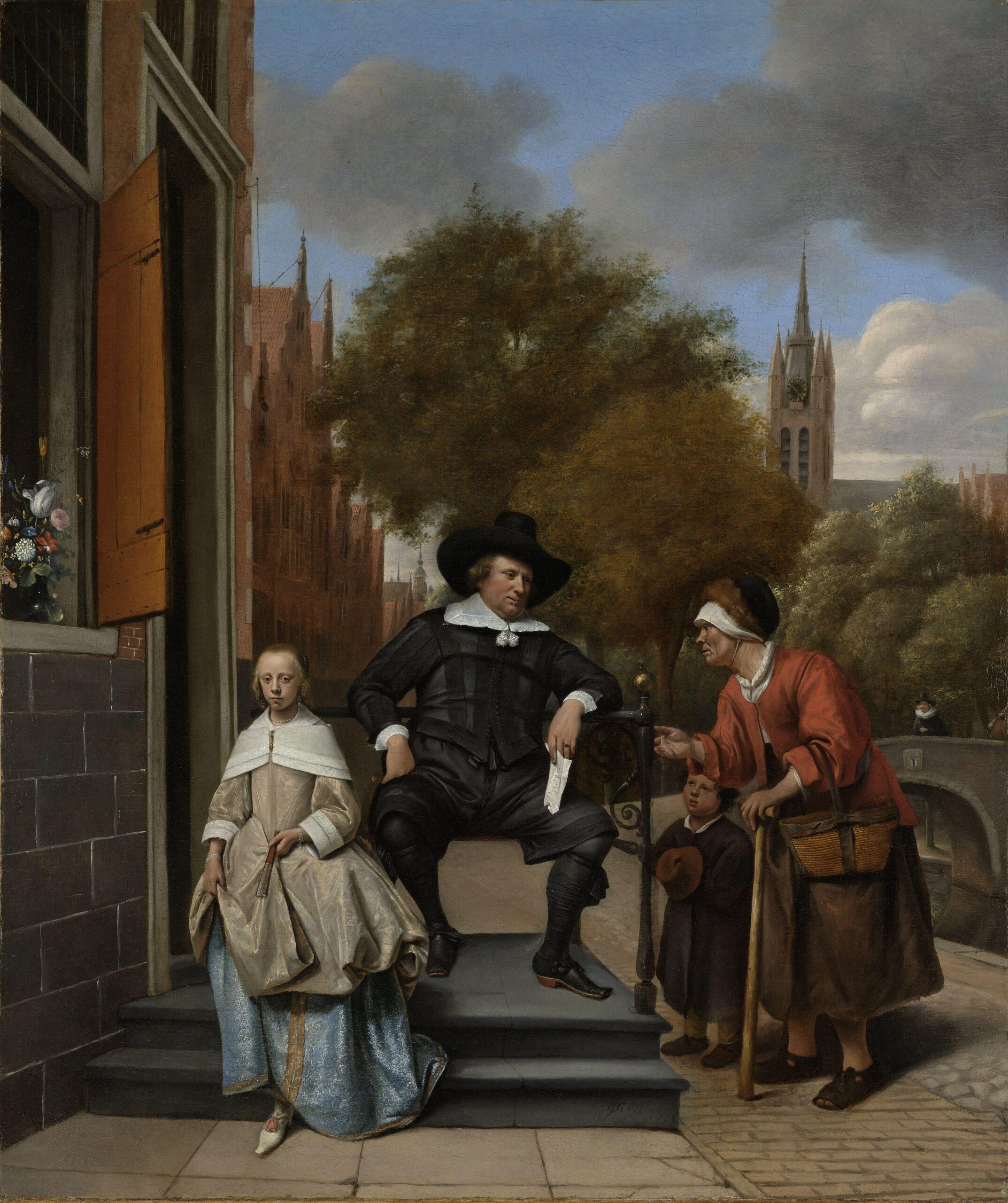 De burgemeester van Delft en zijn dochter