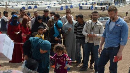 vluchtelingen op de vlucht