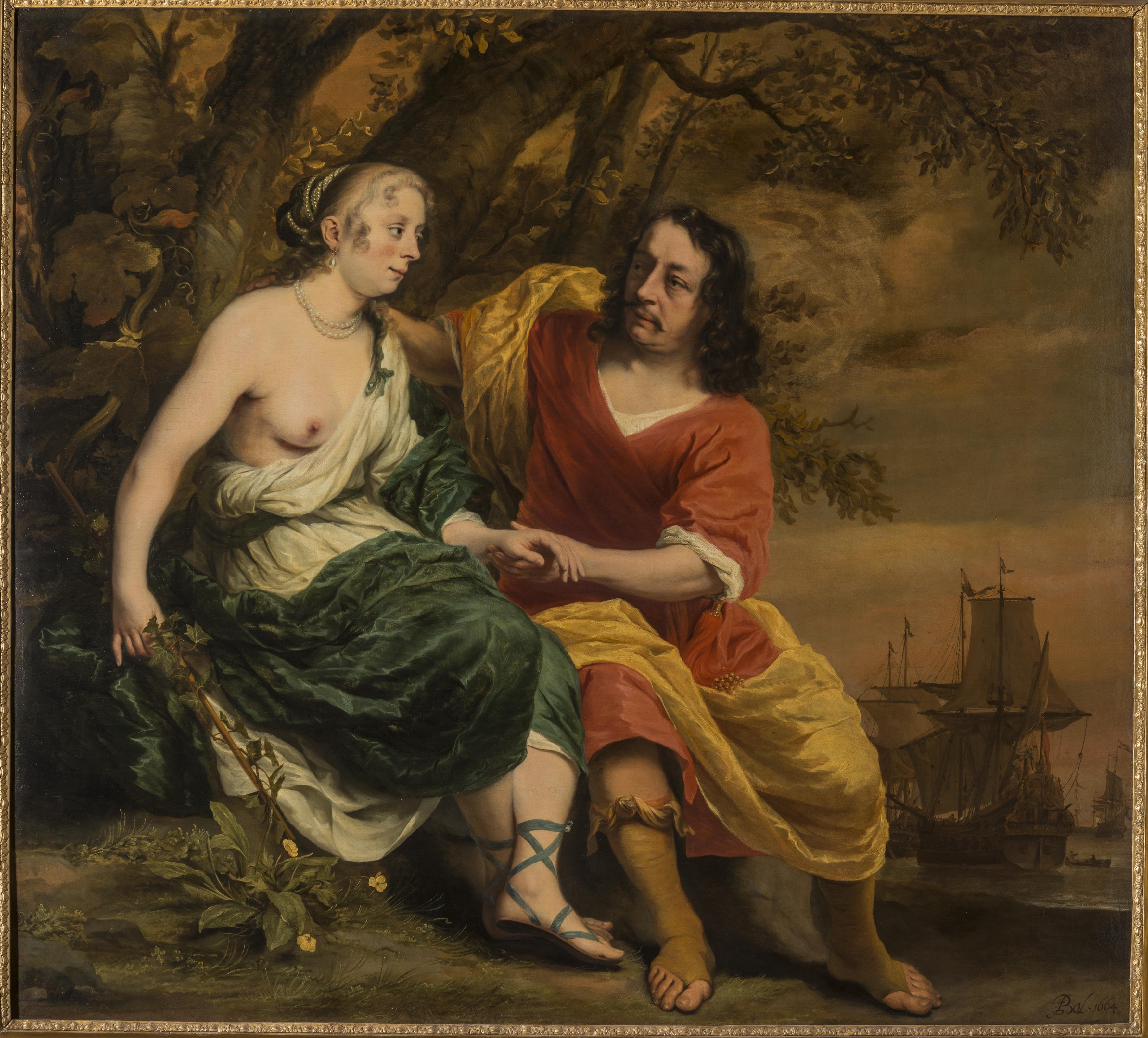Portrait historié van een onbekend paar