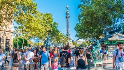 toeristen Barcelona