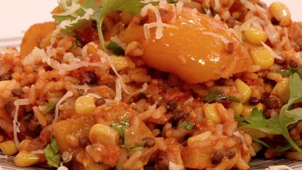 eenpansverrassing met rijst