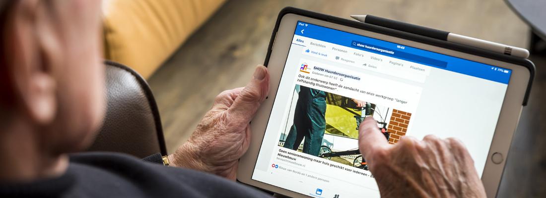 Meer ouderen online