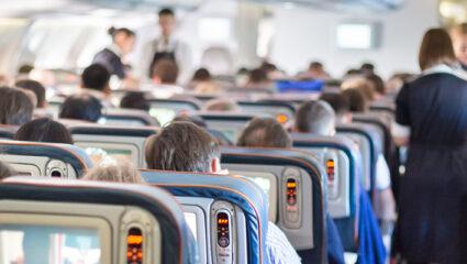 vliegtuigpassagiers