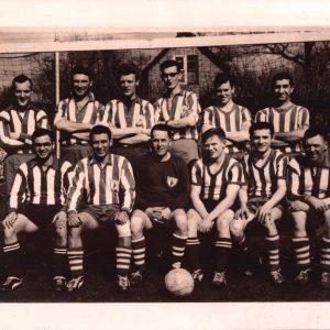 Teamfoto Holland Hotspurs. Klaas is de 2e van rechts