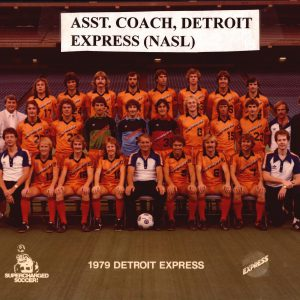 Klaas de Boer als assistent bij de Detroit Express