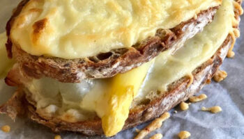 asperges croque monsieur