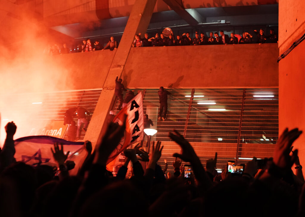 Ajax-fans bij de ArenA