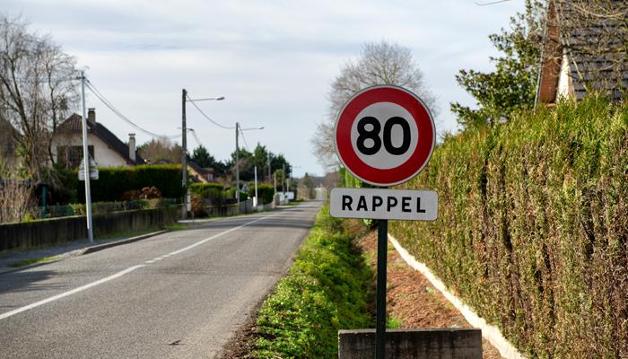 snelheidslimiet in Frankrijk