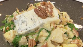 pastinaakstamp met peer en gorgonzola