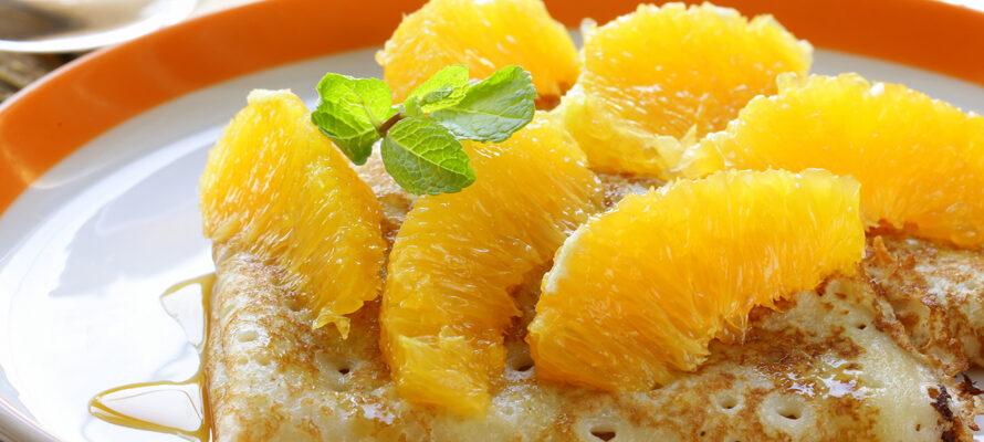 crêpes à l'orange