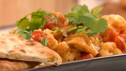 Garam masala curry met raita