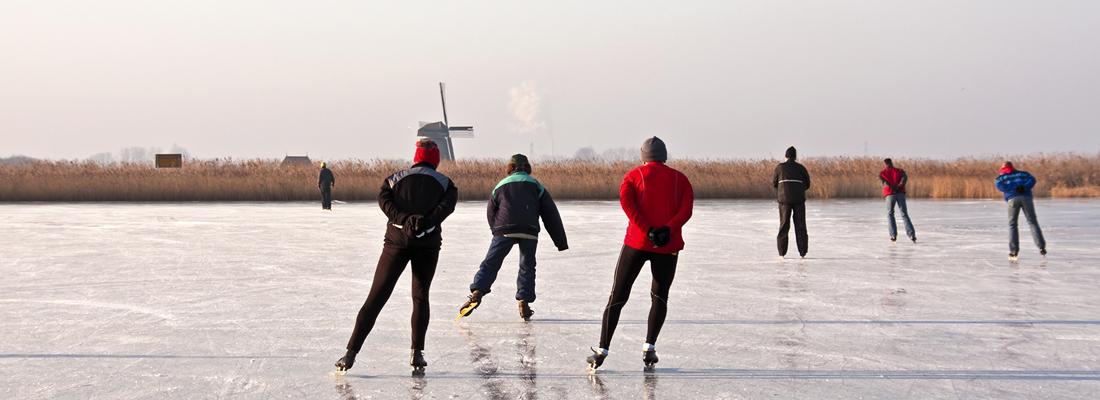 De schaatsen mogen in het vet