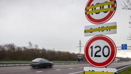 Snelheid op snelweg