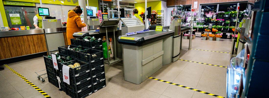 coronamaatregelen in supermarkten