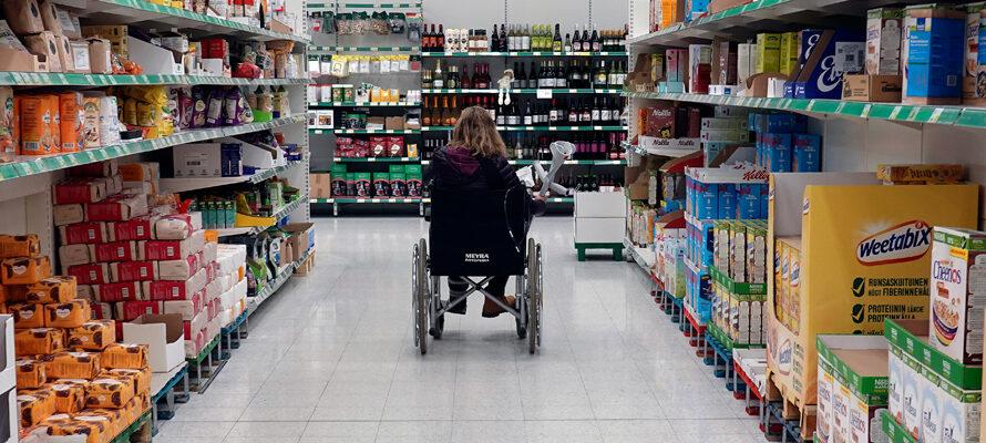 winkelen met een beperking