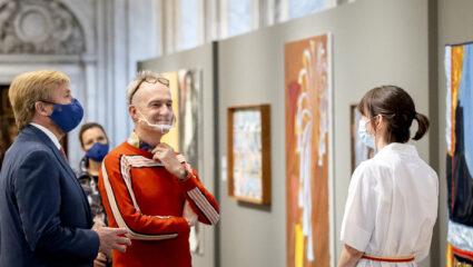 Koning Willem-Alexander bij uitreiking Koninklijke Prijs voor Vrije Schilderkunst 2020