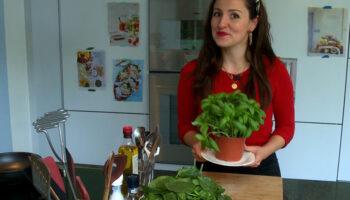 Romige pasta met spinazie