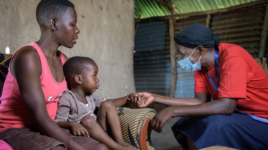 zorgverlener Margaret helpt kinderen met hiv