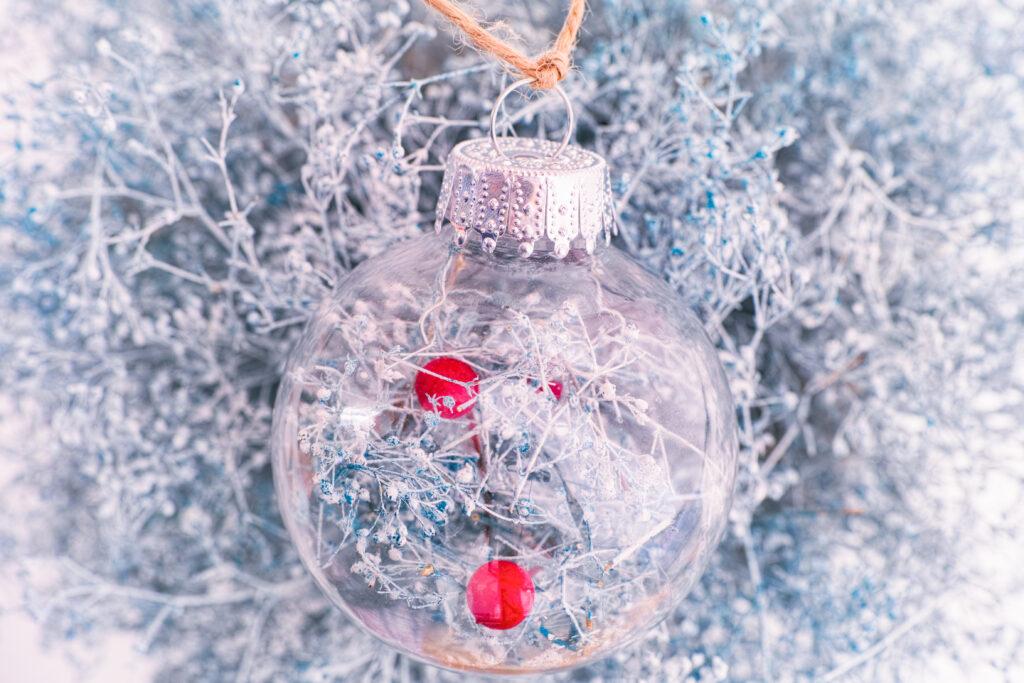 droogbloemen kerstbal