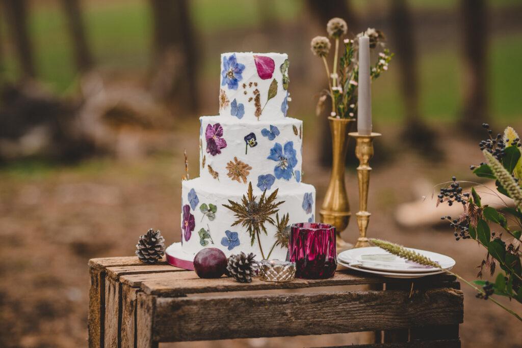 taart droogbloemen
