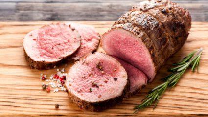 vlees doorbakken