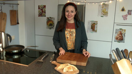 quesadilla met zuurkool
