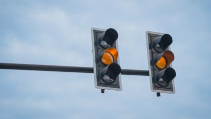 oranje stoplicht
