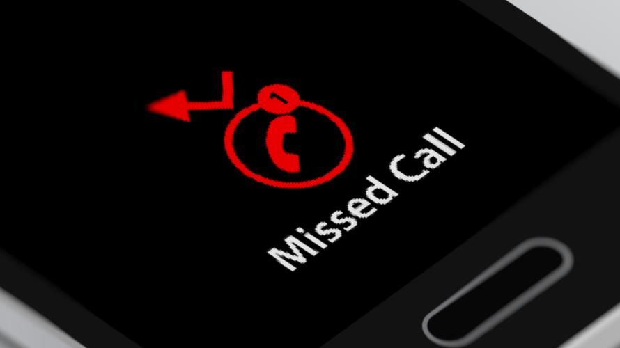 onbekend nummer gebeld